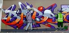 By Babs and Seth (Partial Wall, Paris - 2013) (HBA_JIJO) Tags: urban streetart graffiti seth julien letters babs lettrage malland artistegraffeur hbajijo