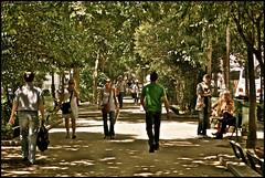 boulevard de clichy ..... paris (ana_lee_smith) Tags: street travel light shadow people paris france macro tourism vintage lens photography boulevard candid sigma montmartre beercan pedestrians tones f4 pigalle photosof boulevarddeclichy analeesmith minoltaaf70210mm sonyslta33