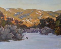 Winter Dusk in the Arroyo     8 x 10