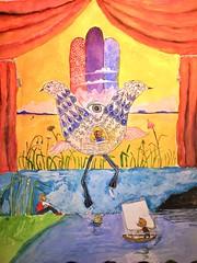 Aslan's Kitten Adventure in Hamsaland (Art Dabu) Tags: gay wedding water birds clouds hands decorative stage devils jewish straight sailboats playful whimsical ketubah nondenominational