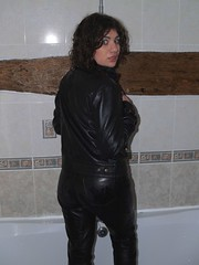 wetleather3 (gitblp) Tags: sexy wet leather fetish pants jeans jacket trousers tight leder cuero cuir