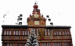 Advent  - The first public Christmas-trees will be illuminated soon. (eagle1effi) Tags: city schnee white snow building clock architecture germany deutschland town cityscape cityhall framed kunst experiment daisy architektur townhall townscape rathaus edition onwhite bauwerk tuebingen gebude picnik erwin halftimbered ppc tbingen fachwerk damncool tubingen colombages masterclass fachwerkhaus architekture wrttemberg badenwuerttemberg bauwerke tubinga effinger againstthewhite tiefdruckgebiet eagle1effi framedonwhite isospeed80 aperturef40 3wordcomments surfondblanc handselected yourbestoftoday artandexpression canonpowershotsx1is effiart fachwerkbauweise lowpressurearea canonpowershotsx1isreferenceshot dibenga stadttbingen canonimagesizewidescreen easymodesnow cameracanonpowershotsx1is aufweissfreigestelt tflickr11 dreiwrter flickrtreffentbingen effiartkunstcopyrightartisteagle1effi aufweissfreigestellt effiarteagle1effi beautifulcityoftubingengermany beautifulcityoftbingengermany dibeng tubingue faachwerkbau