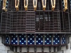 Ceramics and metallic details in Palau Gell by A. Gaudi - Barcelona (Sokleine) Tags: barcelona spain ceramics metallic details modernism eu catalonia unesco espana artnouveau gaudi espagne unescoworldheritage barcelone gell palaugell catalogne