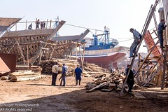 New Wooden Fishing Boats under Construction (doublejeopardy) Tags: building yard boat wooden fishing agadir morocco