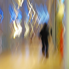 022_uv5Z6f6 (f g r a p h i a) Tags: shadow people woman blur lights blackwhite theater moody misc grainy ofportalsandparallelworlds