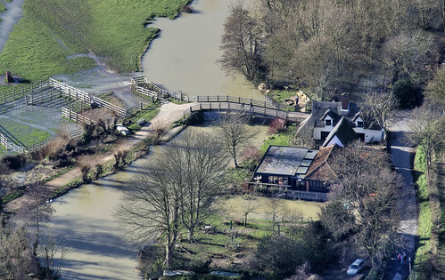 Flatford Mill - aerial view by John D F, on Flickr