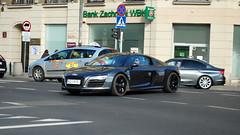Audi R8 V10 Plus 2013 (koza128) Tags: cars car grey map poland polska spot german warsaw plus spotted audi coupe supercar spotting warszawa v10 supercars r8 carspotting 2013