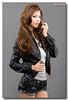 20140304_06_westheim_web (Henry Westheim Photography) Tags: portrait people woman sexy beautiful beauty leather fashion lady studio asian person grey one clothing view shot adult background gray young taiwan front indoors jacket half taichung casual length 20s 2025years