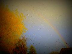 Sonne und Regen- sun and rain (Anke knipst) Tags: sunshine rain rainbow sonne regen regenbogen regentropfen