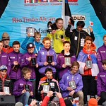 U14 Whistler Cup Dual Slalom Boys' Podium - Marcus Athans (front row) finished 4th