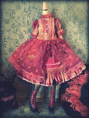 After pics of dress (shepuppy) Tags: boots antique victorian style lolita blythe aged granny distressed shepuppy