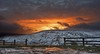Holme sunset (Chris Beesley) Tags: winter sunset sky orange snow cold landscape pentax district peak 15mm holmfirth k3 holme