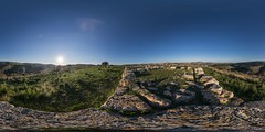 Anaktoron / Necropolis of Pantalica (HamburgerJung) Tags: panorama pentax fisheye sicily sicilia k3 hugin sizilien equirectangular nekropolis pantalica da1017 necropolisofpantalica