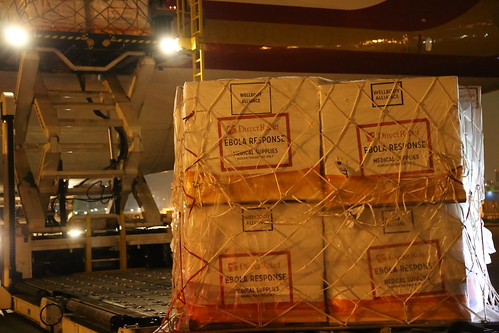 Ebola Facility Modules, Direct Relief, Airlift, LAX 115