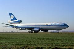 OO-SLB_199112_BRU_1920 (Black Labrador13) Tags: plane aircraft civil douglas avion airliners bru sabena dc10 vliegtuig mcdonnell ebbr dc1030 dc1030cf ooslb