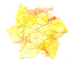 Fujimoto Tesselation Ajiro (2) front (Pliages et vagabondages) Tags: origami tessellation décoration déco fujimoto