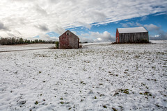Two barns (Don Seymour) Tags: winter barn barns maine newengland snowfall