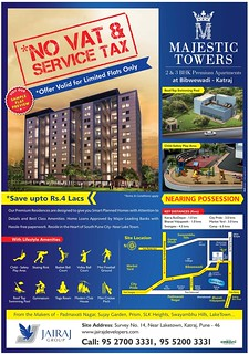 Majestic Towers 2 BHK 3 BHK Flats at Bibwewadi Katraj  Pune (20-02-2015)