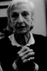 prayer (Lavinia Nocelli) Tags: old portrait italy woman white black italia warrior strong patria homeland partisan matteotti partigiana