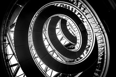 Out of Control (DobingDesign) Tags: windows england blackandwhite abstract london lines architecture contrast spiral nikon unitedkingdom cityhall curves staircase spinning jagged circular londonassembly londonarchitecture