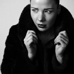 Wendy (Ian_Boys) Tags: portrait bw fashion 35mm square fuji fujifilm wendy xpro1