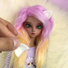 (AnnaZu) Tags: cat doll ears bjd fairyland minifee rheia headparts vesnushkahandmade
