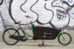WorkCycles Kr8 Straight black-green (@WorkCycles) Tags: winter dutch amsterdam bike bicycle straight fiets cargobike bakfiets bakfietsen workcycles kr8 boxbike