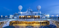 Blue Hour Crown Princess 9933-Pano (Del Hoffman-Thx 12,666,000 Views) Tags: panorama lightroom 50mmf18 d810