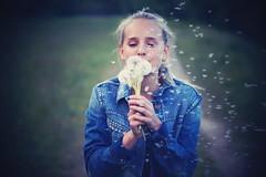 Make a wish (tom.junga) Tags: people flower cute girl beautiful beauty fashion fun freedom fly nice sony blow dandelion wish freelance sonyalphaczechgirl