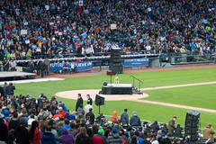 Bernie Again (8 of 13) (evan.chakroff) Tags: seattle field washington election unitedstates baseball stadium political politics rally crowd presidential safeco candidate safecofield bernie primary sanders march25th 2016 berniesanders primaryseason feelthebern