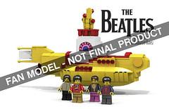 LEGO IDEAS The Beatles Yellow Submarine (The Brothers Brick) Tags: lego nasa ideas yellowsubmarine thebeatles saturnv apollo11 legoideas