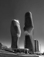 Marilyn Munroe Towers, Mississauga (creditflats) Tags: china toronto ontario canada tower composite pen olympus condo nik mississauga gta condominium marilynmunroe ep5 madoffice absoluteworld silverefex yansongma