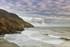The Remote Coast (Vision & Light Photo) Tags: ocean sea mist mountain nature water beauty fog clouds oregon landscape outdoors photography coast photo sand solitude waves pacific northwest fineart hill pacificocean photograph pacificnorthwest remote serene tranquil cloudscape pacificcoast fineartphotography fineartphoto fineartphotograph