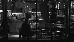Akva bar at night (byronv2) Tags: street people blackandwhite bw window monochrome bar night canal pub edinburgh sitting nacht candid swedish sit seated nuit peoplewatching tollcross unioncanal edimbourg fountainbridge akva lochrinbasin edinburghbynight swedishbar