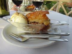 Baclava and ice cream (cjayd62) Tags: food cake dessert zakynthos baklava tavernas kalimaki