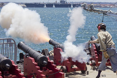 Shiver Me Timbers (George_Adkins) Tags: pirate cannon sandiegobay maritimemuseumofsandiego piratedays