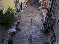 Alleyway (boncey) Tags: people portugal lenstagged lisbon olympus alleyway ep3 1240mm olympusep3 olympuspenep3 camera:model=olympuspenep3 lens:make=olympus lens:model=olympus1240f2828 olympus1240f2828 photodb:id=23766