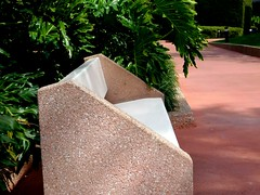 ONE OF MANY BENCHES AT EPCOT (Visual Images1) Tags: bench orlando epcot 6ws florida monday hbm picmonkey