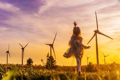 wait for next wind (AZURE_TB) Tags: sunset sony   windfarm   dollfiedream   ilce7 sel55f18z dd