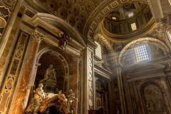 He rests in light (JWY80) Tags: travel italy sculpture pope vatican rome roma art wow nikon catholic tomb d750 sanpietro hdr lazio lightroom stpetersbasilica 24120mm latium alexandervii gianlorenzobernini avemariauniversity