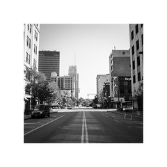 Akron Life (Super Fuzz) Tags: ohio advertising blackwhite downtown ad grain commercial filmproduction akron filmcrew