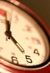Swiss Army Watch 5:00 (revjimbo) Tags: red black macro time watch
