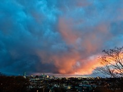 Sunset from Prospect Hill Park ((Jessica)) Tags: sunset sky weather clouds massachusetts newengland somerville pw prospecthillpark