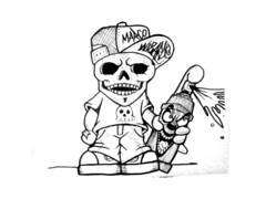 graffiti sticker skull (marcomacedo3) Tags: cholowiz graffiti sticker nazer26 mtsk paste stamp slaps collabs spraycan trade