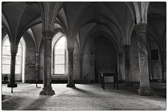 meditation.. (hederahelix79) Tags: blackandwhite church monochrome kirche schwarzweiss lbeck gewlbe katharinenkirche