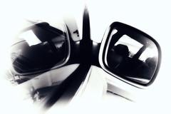 mirror - mirroring (camerito) Tags: auto bw white black window car austria mirror sterreich flickr fenster spiegel krnten carinthia spiegelung glas j4 mirroring nikon1 camerito