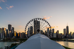 Navy Pier, Chicago DSC03293 (nianci pan) Tags: sunset sky urban sun lake chicago bird water wheel architecture sailboat sunrise river landscape boat illinois pond cityscape dusk sony down lakemichigan ferriswheel navypier pan silhoutte sonyalphadslr nianci sonyphotographing