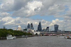 More from Waterloo Bridge (IT Alien) Tags: light summer england westminster weather clouds boat unitedkingdom himmel cielo shade blackfriars riverthames gherkin southwark tower42 walkietalkie cityoflondon lloydsbuilding cheesegrater redbus hqswellington herontower