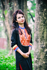 || Simplicity is Best || (NahidHasan95) Tags: red portrait sun sunlight white black flower color tree nature girl fashion wall leaf shoot dress outdoor passion meroon