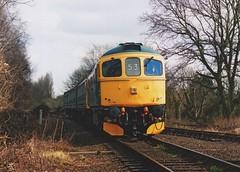 "BR Blue Class 33/0, 33053 (37190 ""Dalzell"") Tags: type3 ferrymeadows crompton nvr class33 brblue 33053 nenevalleyrailway dieselgala class330 brcwco d6571 birminghamrailwaycarriagewagonco"
